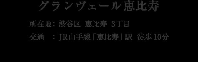 東京都渋谷区恵比寿3丁目・「恵比寿」駅 徒歩10分