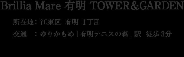 東京都江東区有明1丁目・「」駅 分