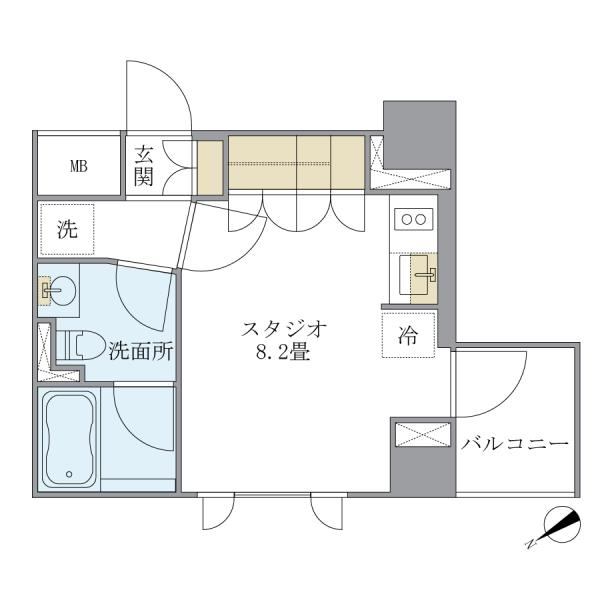 アパートメンツ浅草橋リバーサイドの間取図