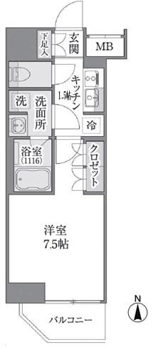 Brillia ist 上野御徒町の間取図