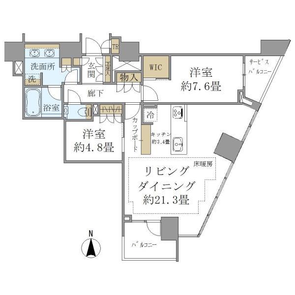 Brillia Tower代々木公園CLASSYの間取図