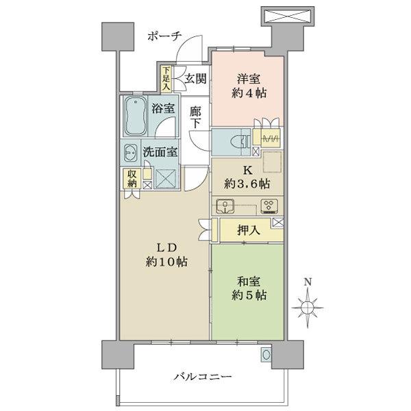 ブリリア多摩ニュータウンD棟 3階の間取図/3F/2,790万円/2LDK/53.36 m²