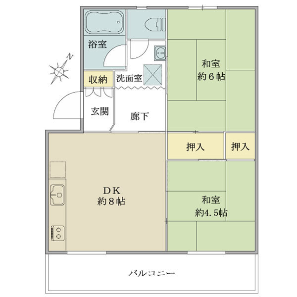 2駅利用可。「町田」駅徒歩13分、「相模大野」駅徒歩15分の徒歩圏内です!