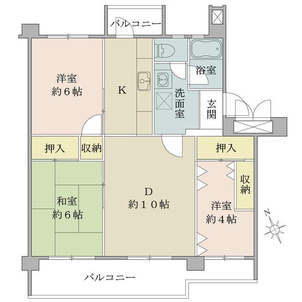 鶴川六丁目団地第8−6号棟