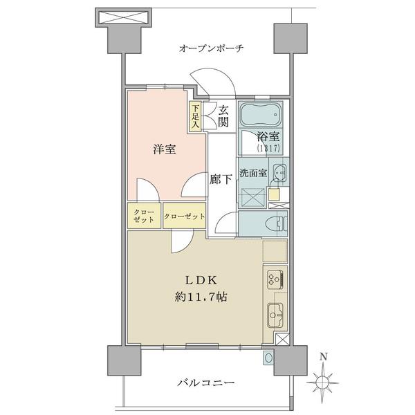 ブリリア多摩ニュータウンの間取図/10F/2,180万円/1LDK/43.17 m²