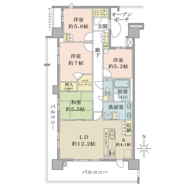 ブリリア多摩ニュータウンの間取図/6F/5,150万円/4LDK+SIC+MC/93.94 m²