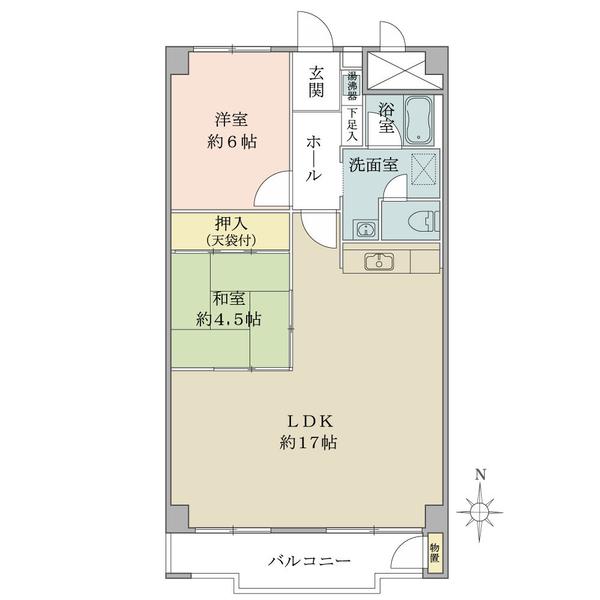 東建座間ハイツの間取図/8F/1,348万円/3LDK/69.3 m²