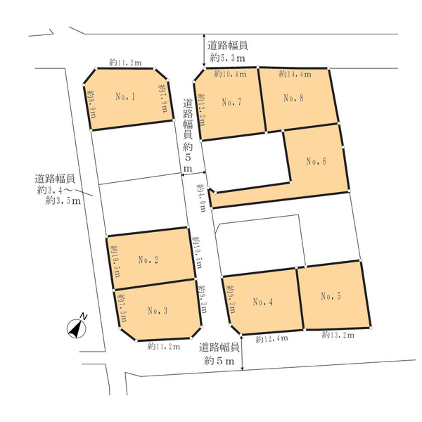 【現地】旗竿地(南側から撮影) / 敷地面積:199.31㎡(約60.29坪)