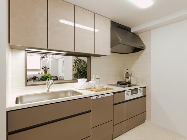 【キッチン】新築時復元イメージCG画像※実際の写真ではございません
