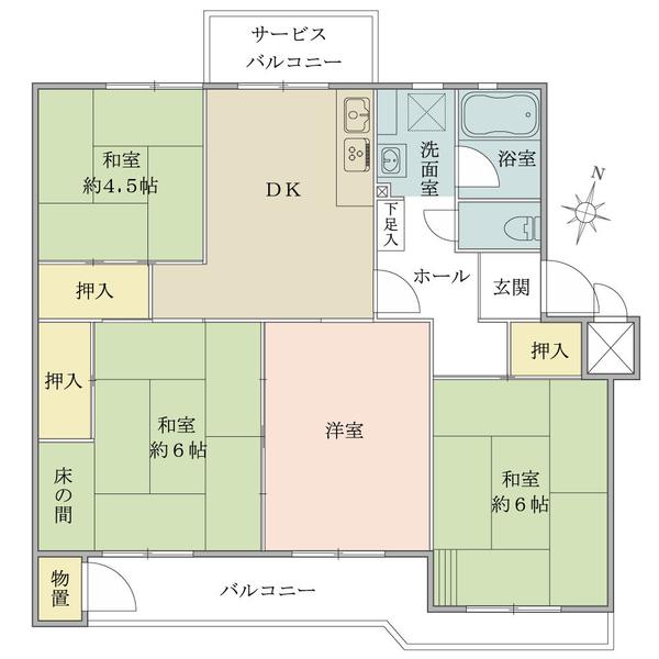 東建北習志野マンションの間取図/3F/650万円/4DK/67.11 m²
