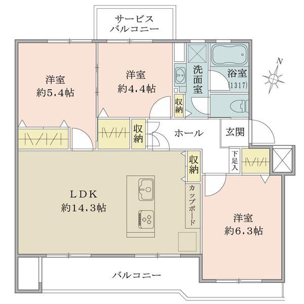 東建北習志野マンションの間取図/3F/1,680万円/3LDK/67.11 m²
