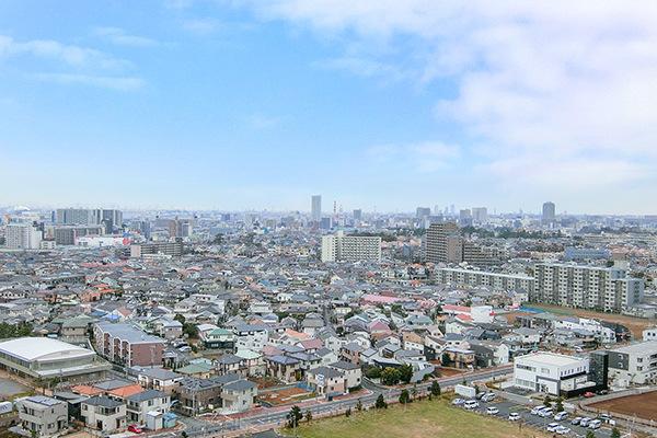 天気が良い日には富士山も望めます。