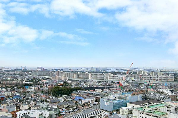 海、スカイツリー等東京方面の眺望を楽しめます。