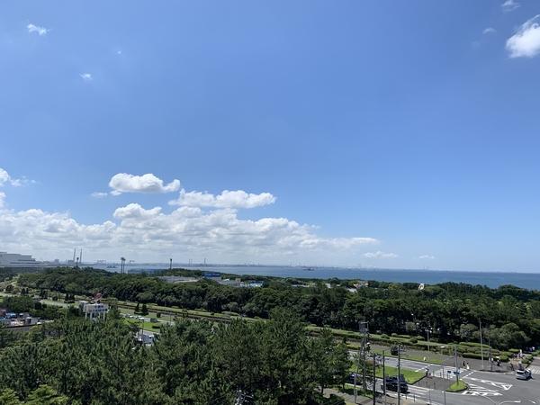 南東側バルコニーからの眺望
