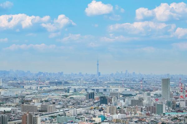 北西部分のため富士山、スカイツリー、東京タワーを一望できます