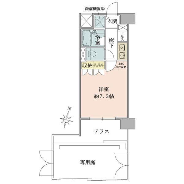 プリヴェール目黒行人坂の間取図/1F/2,580万円/1R/22.57 m²