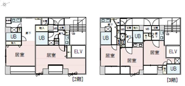 間取り図 2階・3階
