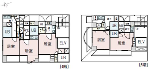 間取り図 4階・5階