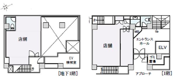 間取り図 地下1階・1階