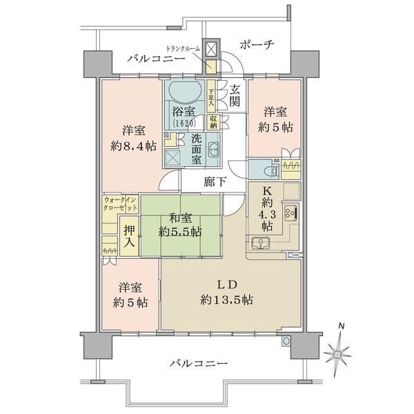 ブリリア六甲アイランドブランズリビオの間取図/7F/3,180万円/4LDK/91.18 m²