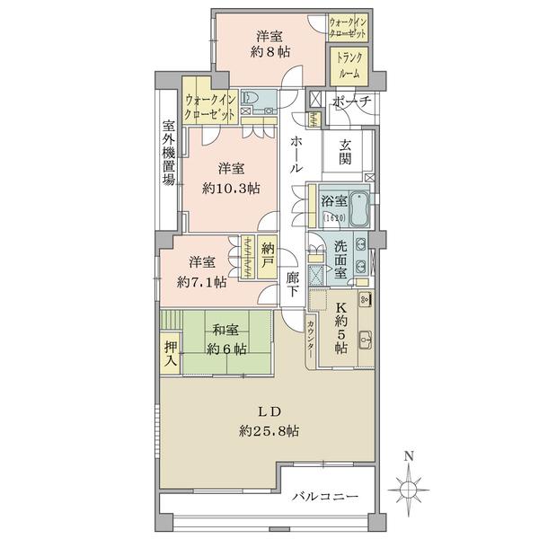 グランヴェール大磯の間取図/2F/5,850万円/4LDK+N+2W/146.11 m²