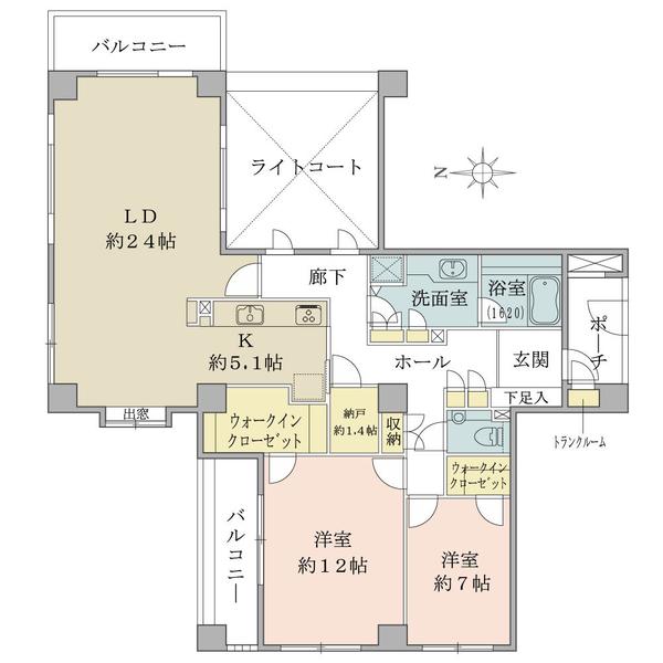 グランヴェール大磯の間取図/3F/5,180万円/2LDK/121.89 m²