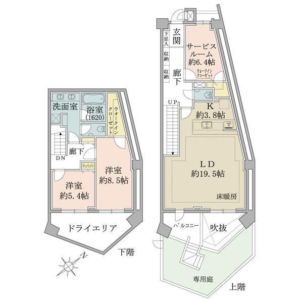 都営浅草線「西馬込」駅(始発駅)より徒歩1分! 始発駅につき、朝の通勤・通学時に座って移動できます!