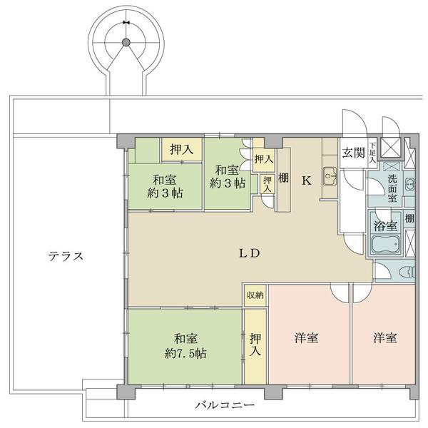 ニューハイツ田園調布の間取図/10F/5,480万円/4LDK/99.36 m²