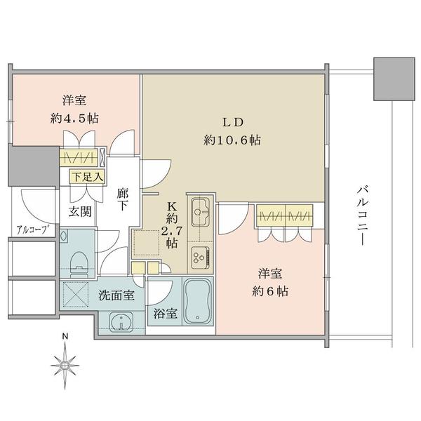 <オーナーチェンジ物件> 21階部分・2LDK・東向き住戸!