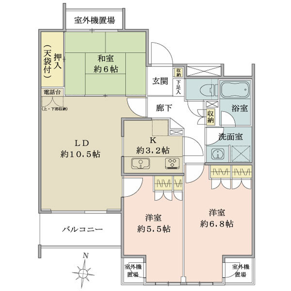 アールヴェール中延の間取図/1F/5,680万円/3LDK/71.53 m²