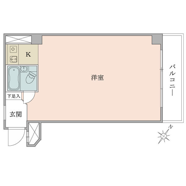 ニューシティハイツ飯田橋の間取図/7F/2,530万円/1R/33.28 m²
