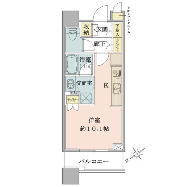 ブリリアタワーズ目黒 サウスレジデンスの間取図/10F/6,180万円/1R/30.05 m²