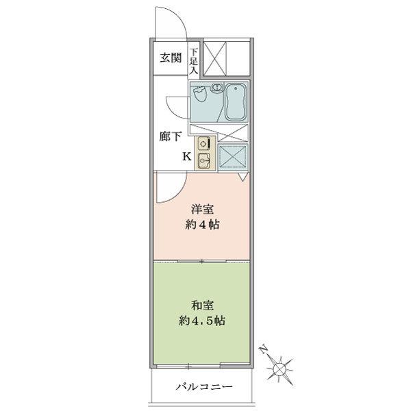 東建シティハイツ上野の間取図/6F/1,780万円/1K/21.88 m²