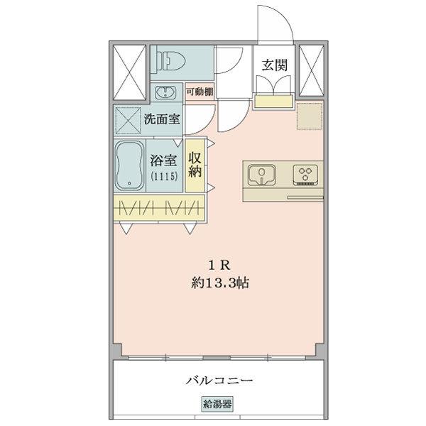 東建ニューハイツ九段の間取図/8F/3,280万円/1R/35.66 m²