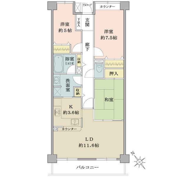 保土ヶ谷オークヒルズ243号室