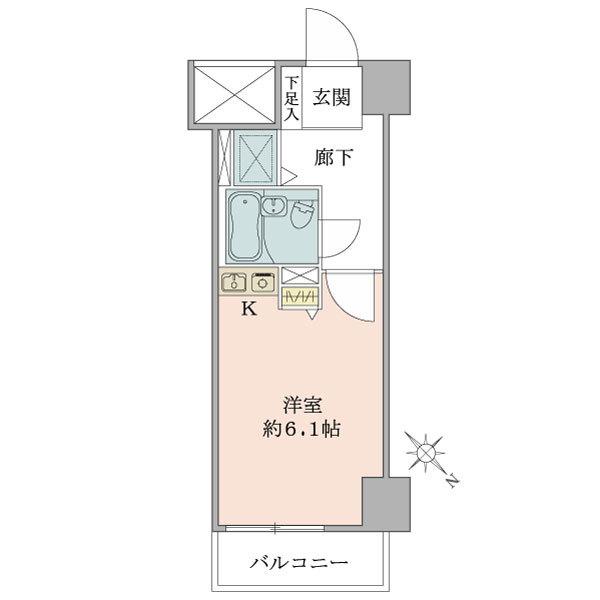 東建シティハイツ上野の間取図/1F/1,500万円/1R/19.44 m²