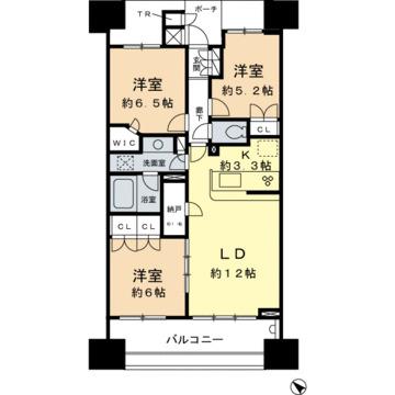 ブリリア大島小松川公園の間取図/20F/5,080万円/3LDK/73.35 m²