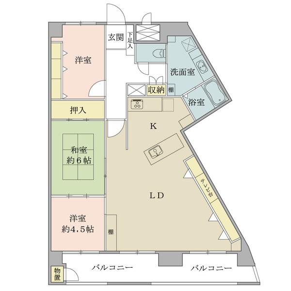 東建金町マンションの間取図/11F/2,050万円/3LDK/76.87 m²