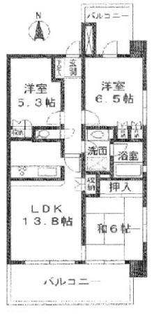 アールヴェール綾瀬の間取図/2F/3,998万円/3LDK/69.27 m²