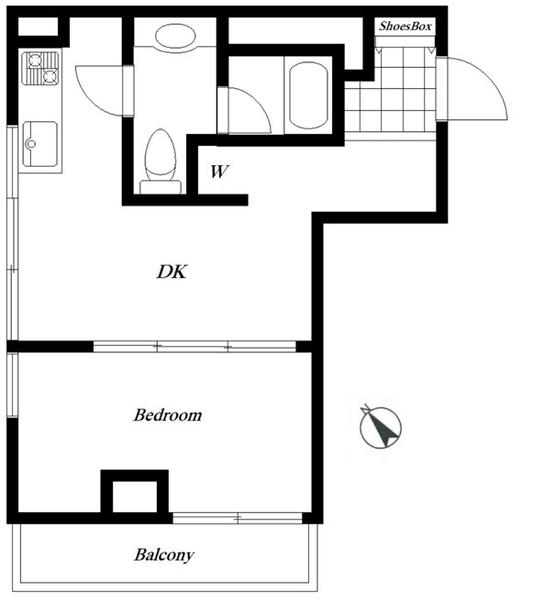 東建シティハイツ上野の間取図/6F/2,650万円/1DK/27.37 m²