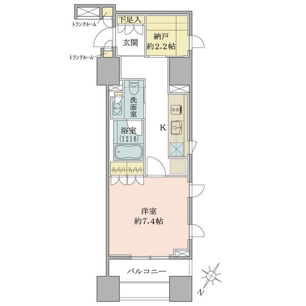ブリリア銀座idの間取図/3F/4,790万円/1K/36.22 m²