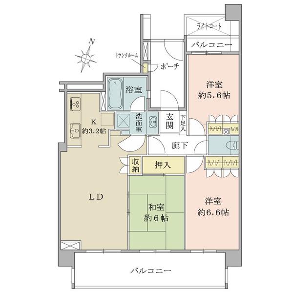 アールヴェール綾瀬の間取図/11F/4,480万円/3LDK/69.1 m²