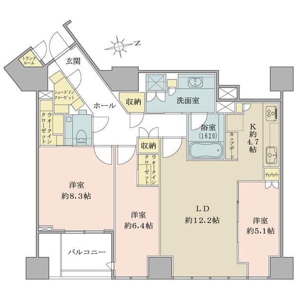 ブリリア一番町の間取図/4F/21,300万円/3LDK/94.24 m²