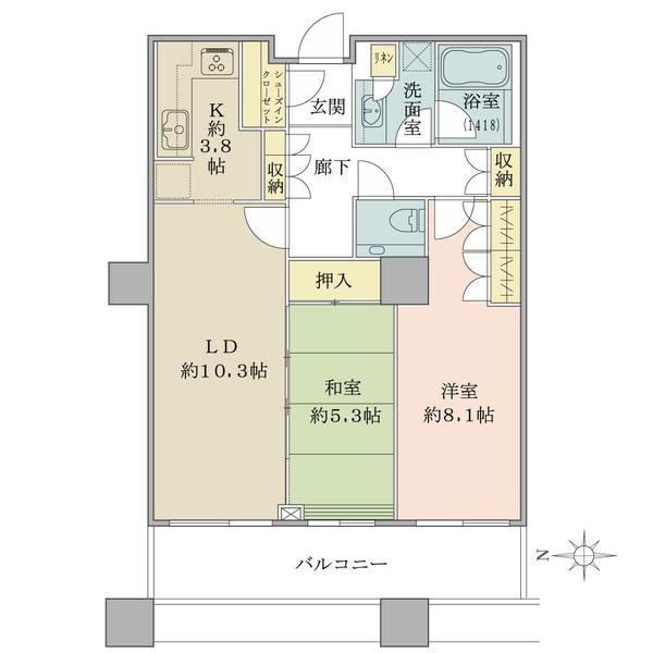 ブリリアタワー東京の間取図/21F/7,500万円/2LDK+SIC/67.89 m²