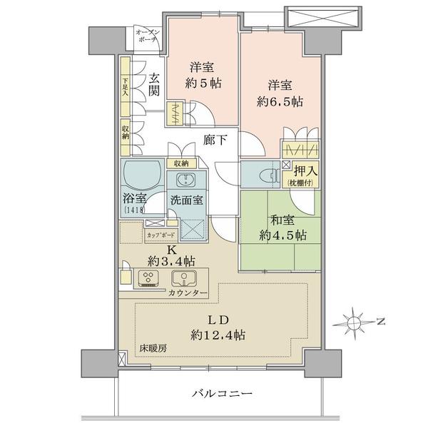 ブリリア葛西の間取図/7F/3,480万円/3LDK/72.67 m²