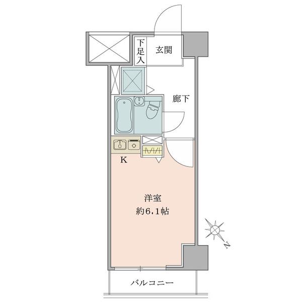東建シティハイツ上野の間取図/5F/1,550万円/1K/19.71 m²