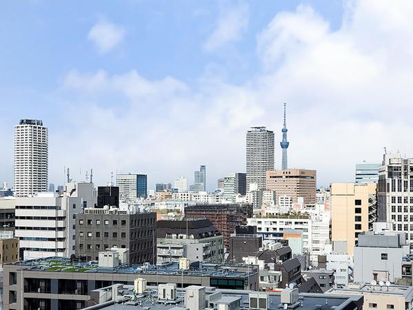バルコニーから北東方向の眺望・東京スカイツリーが望めます(天候による)