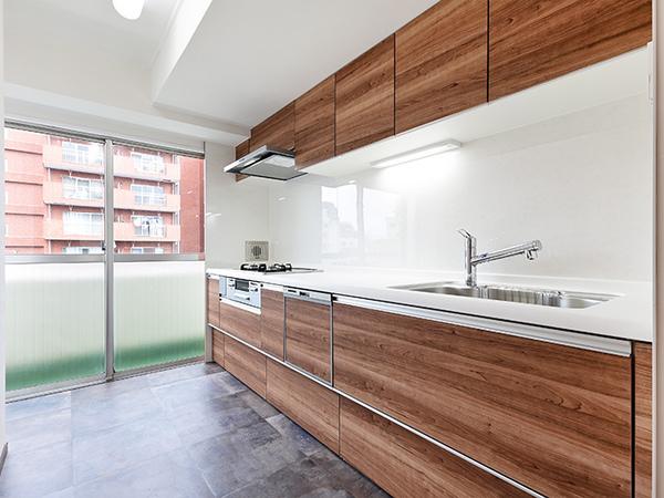 新規交換済のキッチン・食器洗乾燥機や浄水器等充実した設備内容