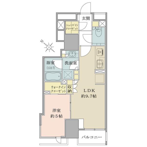 40.05平米・1LDK・築後未入居物件・16階建の15階部分につき眺望良好