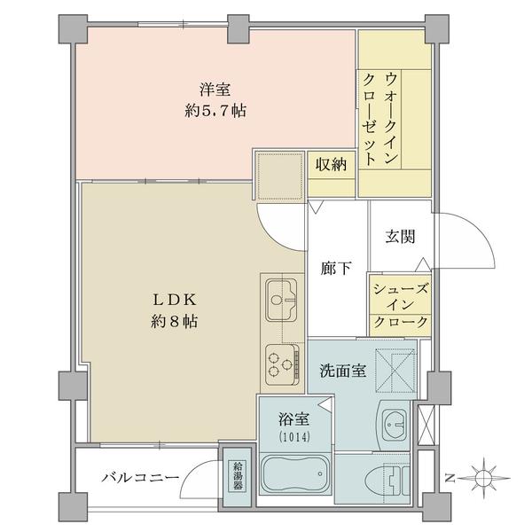 1LDK、価格2280万円、専有面積38.88m2 ※バルコニー面積不明・専有面積に含まれます。
